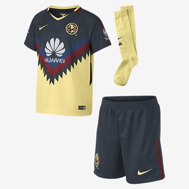 bf16dbe1a24 Nike Club America Unisex Child Home Kit 2017 18