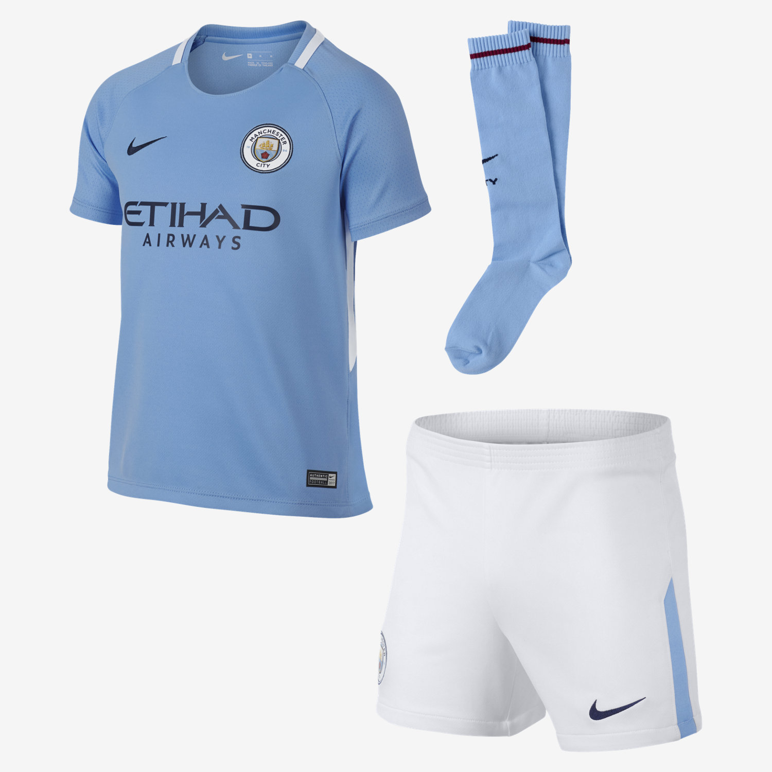 Nike Jr. Breathe Manchester City FC Kit 2017 18 - Soccer Premier a02b4b312b1c