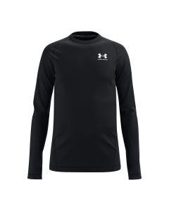 UA Boys' ColdGear® Armour Long Sleeve (Black)