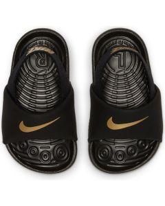 Nike Kawa Baby/Toddler Slides (Black-Gold)