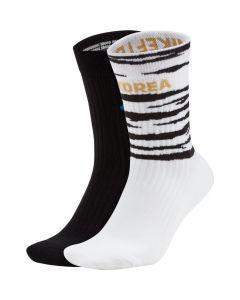 Nike Korea SNKR Sox Shox Soccer Crew Socks (2 Pairs)
