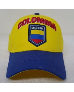 Colombia Flag Logo Hat (National Soccer Team)- Adults One Size  Adjustable by Rhinox Group