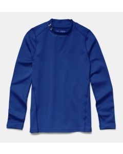 Under Armour Youth Cold Gear Evo Fitted LS Mock (Blue)