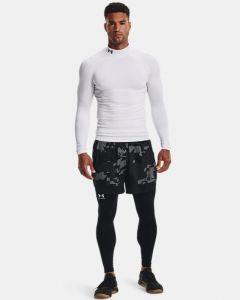 UA Men's ColdGear® Armour Compression Mock (White)