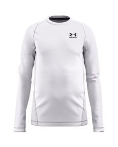 UA Boys' ColdGear® Armour Long Sleeve (White)
