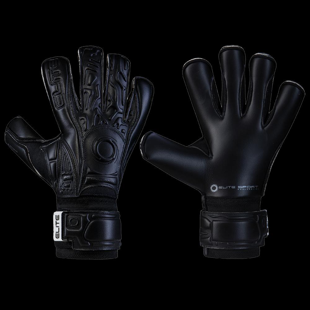 Rebel Sport Keeper Gloves: Elite Sport Black Solo Goalkeeper Gloves