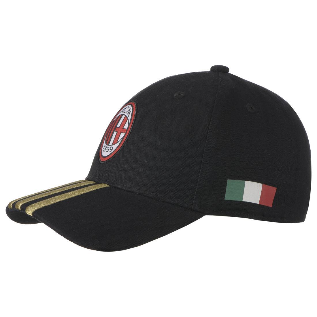 deb0a0256c4ad adidas AC Milan 3 Stripes Cap - Soccer Premier